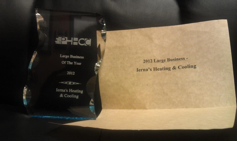 PHHCC Large Business of the Year | Pasco | Ierna's Heating & Cooling