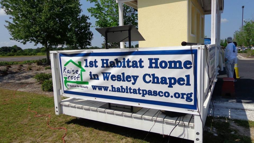Habitat for Humanity Sign and IERNA's