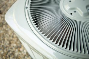 top view of an outside unit of an air conditioner