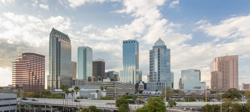 Downtown Tampa Florida in the afternoon
